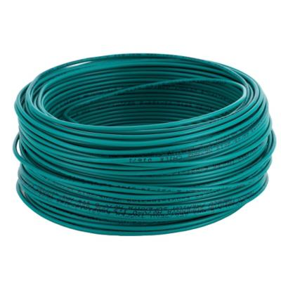 Alambre de cobre aislado (H07V-U) 1,5 mm2 50 m Verde