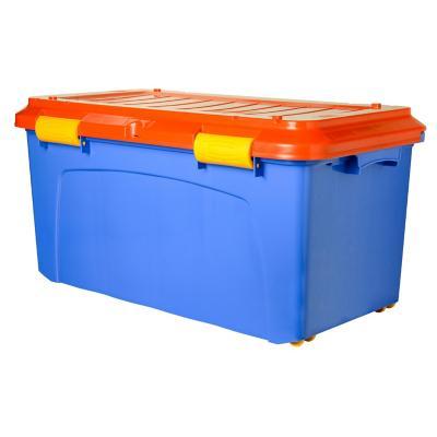 Baúl organizador 90 litros 39,2x43x80,8 cm rojo