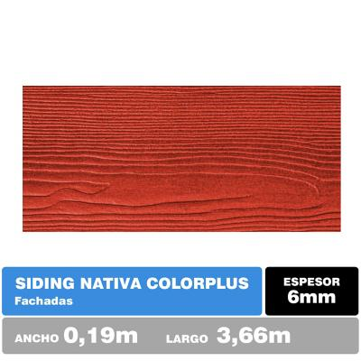 Siding fibrocemento 6mm 19x366 cm alerce