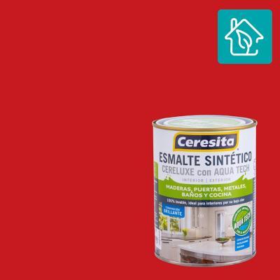 Esmalte Sintetico Cereluxe Aquatech Bermellon 1/4 gl