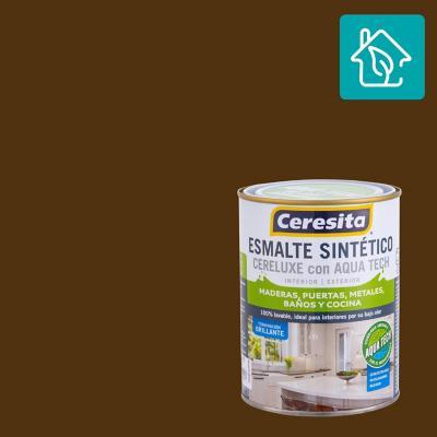 Esmalte Sintetico Cereluxe Aquatech Café Moro 1/4 gl