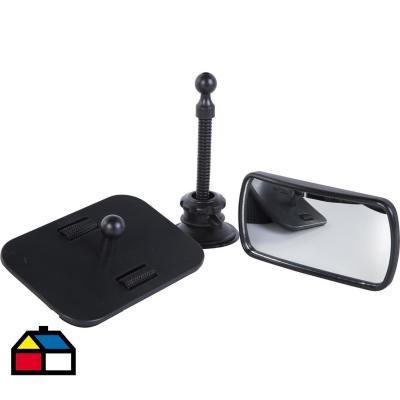 Espejo para auto vidrio 17x17x7,5 cm Negro