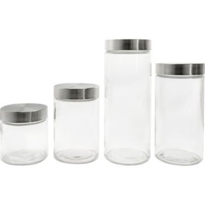 Set de canisters 4 unidades transparente