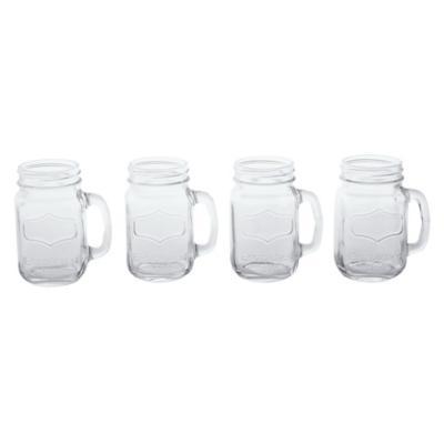 Vaso  de Vidrio 480 ml 4 Unidades