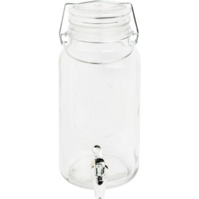 Dispensador vidrio 3,8 litros con tapa