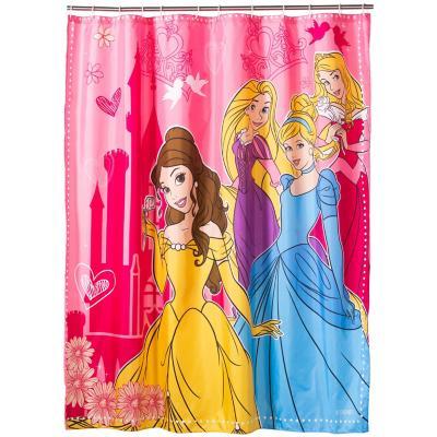 Cortina de baño Princesas poliéster 180x180 cm