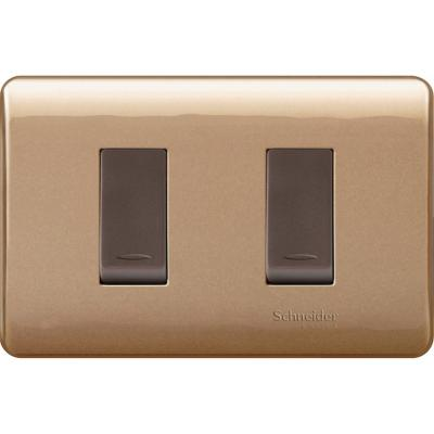 Interruptor doble (9/15) 16 A Dorado Genesis