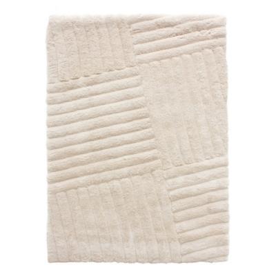 Alfombra líneas 160x230 cm blanco invierno