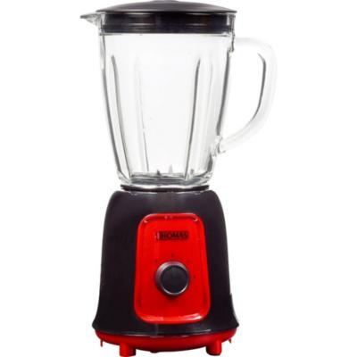 Licuadora vidrio 1,5 litros negro/rojo
