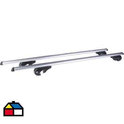 Barra 132 cm aluminio Plateado