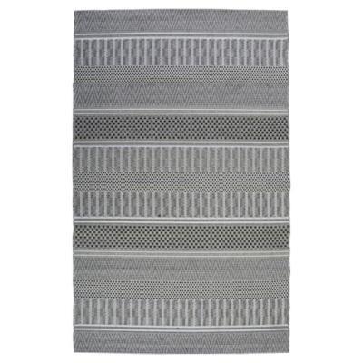 Alfombra rayas int/ext 160x230 cm gris