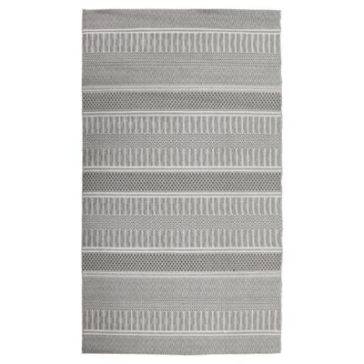 Alfombra rayas int/ext 200x290 cm gris