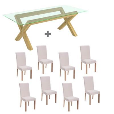 Juego de comedor Lyon Vidrio 8 sillas