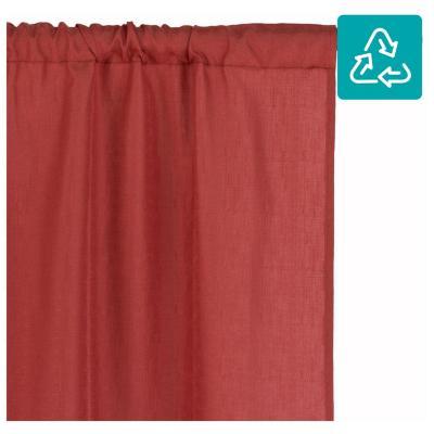 Combo cortina + velo 145x220cm terracota