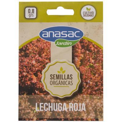 Semilla Orgánica Lechuga Roja 0,8 gr sachet