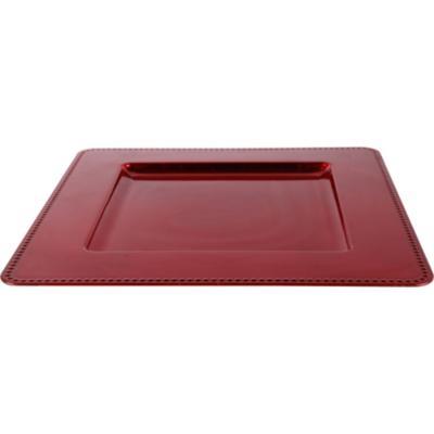 Plato cuadrado 33x33 cm rojo
