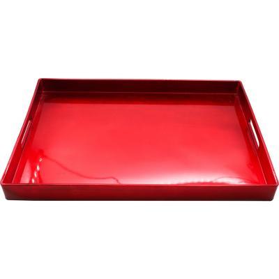 Bandeja de plástico rojo 48x35 cm