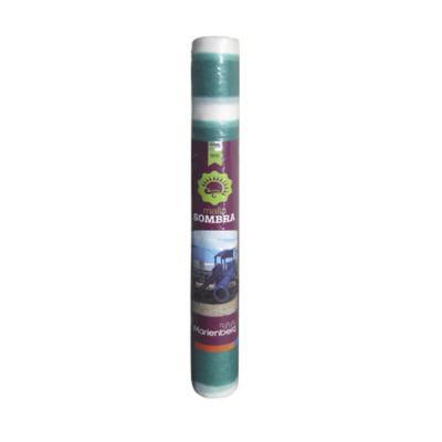 Rollo raschel 80% 10x210 m verde/blanco