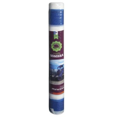 Rollo raschel 80% 10x210 m azul/blanco