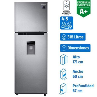 Refrigerador no frost top mount freezer 318 litros silver
