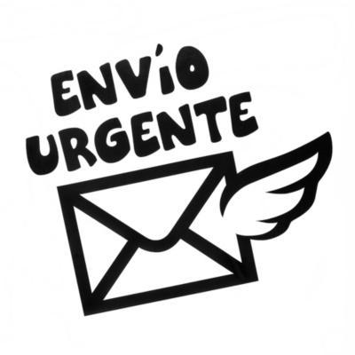 Sticker decorativo envío urgente 28x30 cm