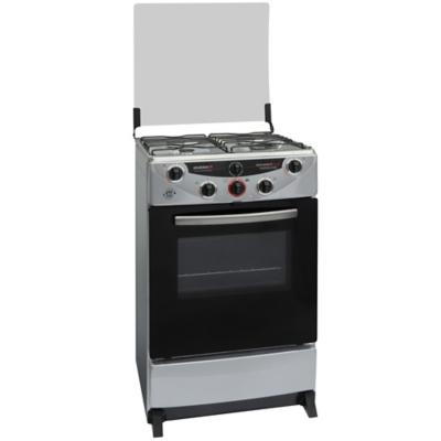 Cocina a gas 4 quemadores 68 litros gris