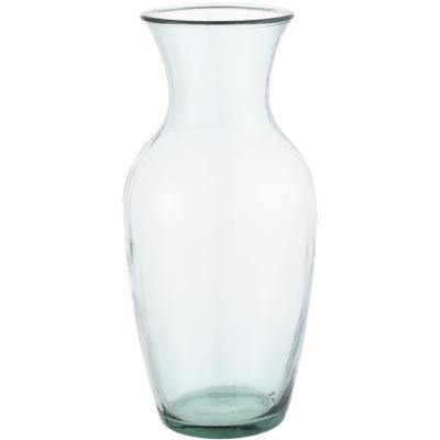 Florero 43 cm vidrio reciclado transparente