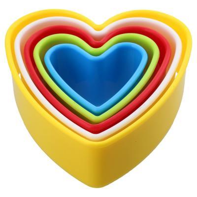 Molde para galletas corazón plástico