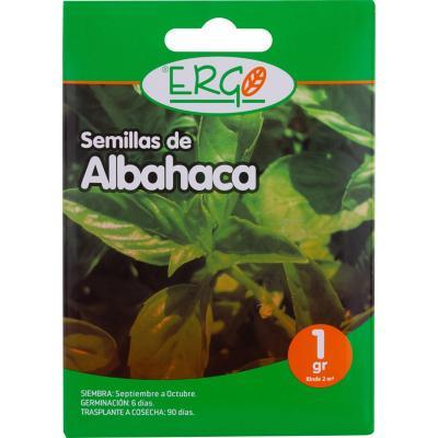 Semilla albahaca Ergo 1 gr sachet
