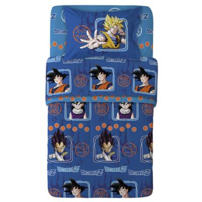 Sábanas multicolor Dragonball Z 1,5 plazas