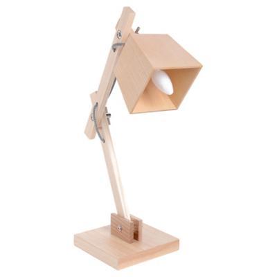 Lámpara de escritorio madera E14 40W