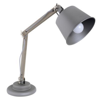 Lámpara de escritorio 30W Polly gris E27