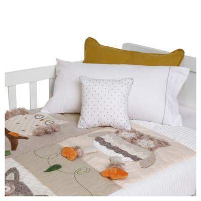 Cobertor de bebé búho crema 90x120 cm