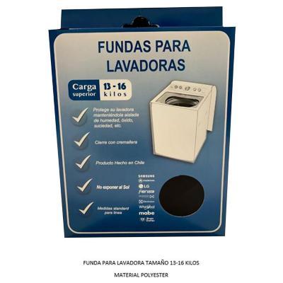 Funda para lavadora superior de 13-16 kg textil blanco