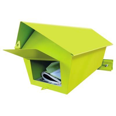 Buzón para reja 33x18x18 cm de fierro verde