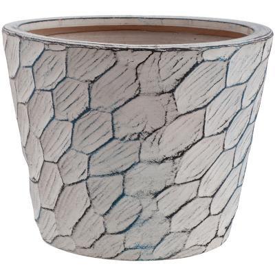 Macetero de cerámica 29x23 cm gris