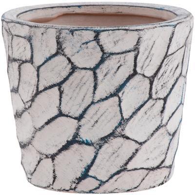 Macetero de cerámica 15x13 cm gris