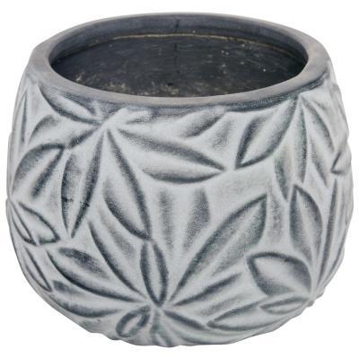 Macetero de cerámica 13x10 cm Gris