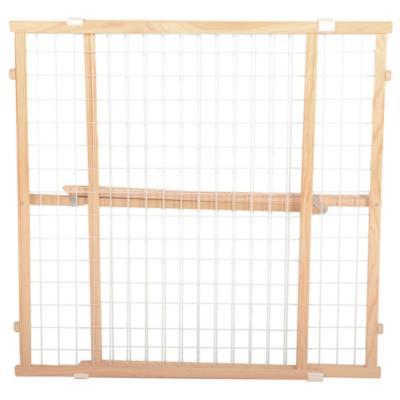 Puerta de seguridad extra ancha 81x7x73 cm madera Gris
