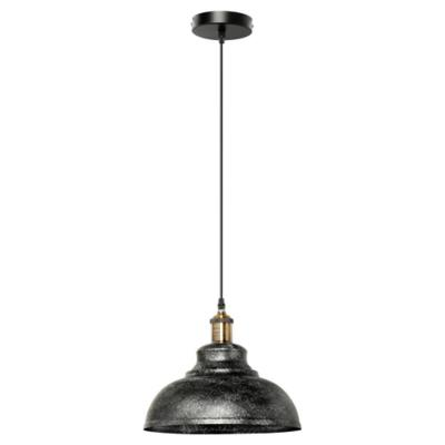 Lámpara de colgar metal Perth negro E27