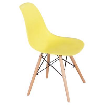 Set de sillas 82x46x49 cm amarillo 4 unidades