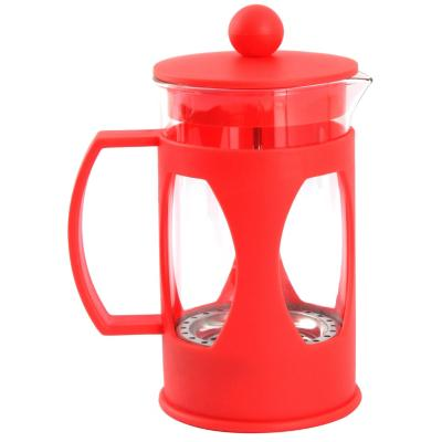 Cafetera francesa vidrio 600 ml Rojo