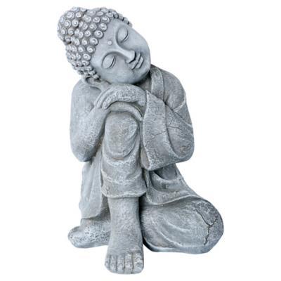 Buda decorativo 41,527,5x29 cm cerámica gris