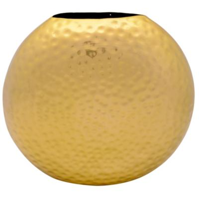 Vasija decorativa 25x29x9 cm metal dorado