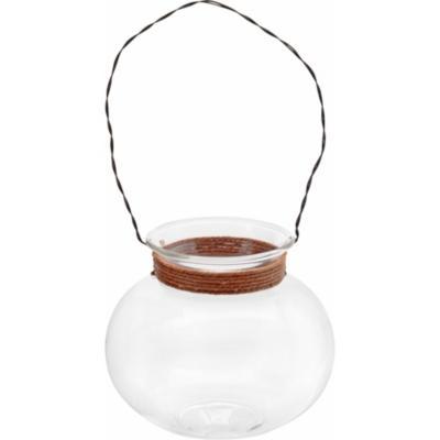 Vasija colgante 9,8 cm vidrio transparente