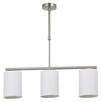 Lámpara de colgar Metal y tela Sara Blanca