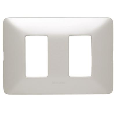 Placa 2 Módulos 10A Aluminio