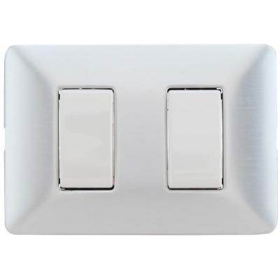 Interruptor Doble Armado (9/15) 10A Aluminio