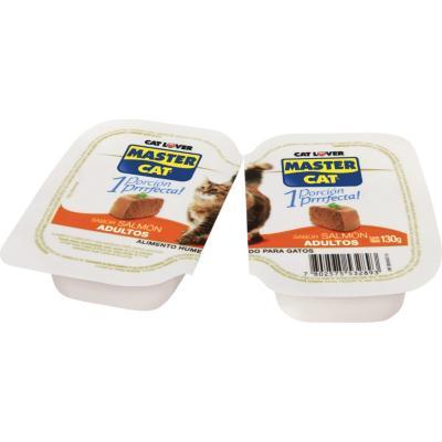 Alimento húmedo para gato adulto 130 g Salmón