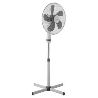"""Ventilador de pedestal 16"""" blanco/gris"""